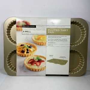 Williams Sonoma Fluted Tart Pan 6 Wells Goldtouch